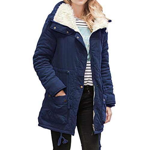 COPPEN Women Coats Warm Long Collar Hooded Jacket Slim Winter Parka Outwear ()