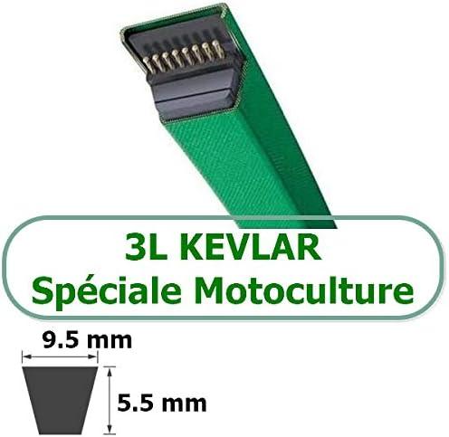 Looxe COURROIE TRAPEZOIDALE KEVLAR 3L410  COURROIES TRAPEZOIDALES 3L 9.5x5.5 KEVLAR