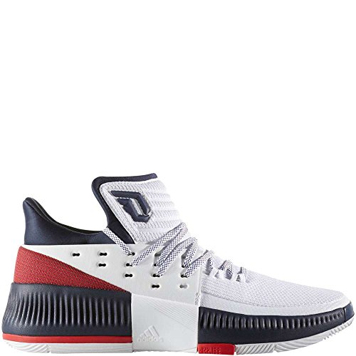 Adidas Dame 3 Sko Menns Basketball Hvit / Purpur / Kollegialt Navy
