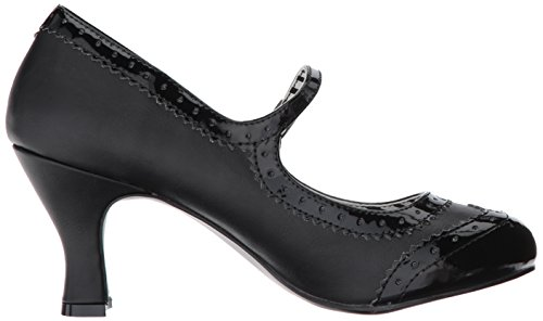 Pleaser Womens Jenna06/Bpu-pt Black Faux Leather-pat JvR0dNrS