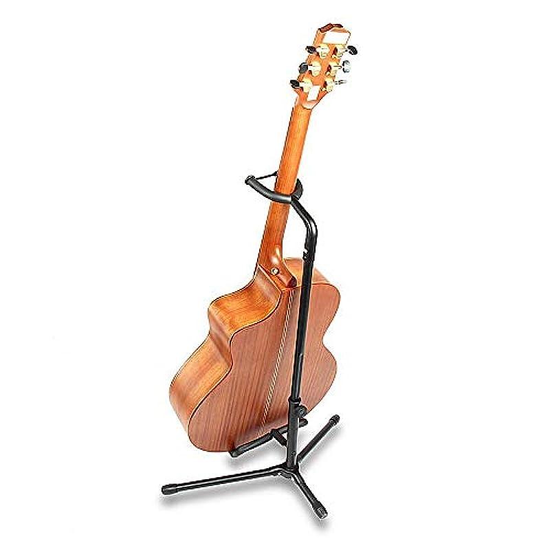 【2019 최신 개량판】c형 기타 스탠드 접이식 기타 스탠드 어쿠스틱 기타 스탠드 어쿠스틱 기타 스탠드 전기 기타 스탠드 베이스 truss 유니버설 전도 방지용 고무 부속 블랙 Guitar Stand 높이조#정 가능 (64-74)cm