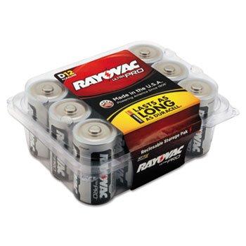 Ultra Pro Alkaline Batteries, D, 12/Pack