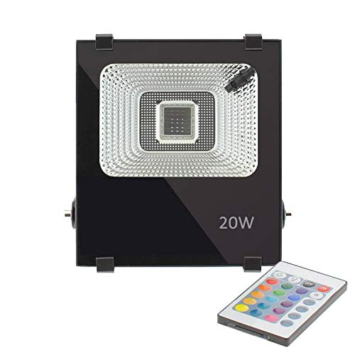 Proyector Led newPRO RGB, 20W, RGB, Regulable: Amazon.es ...