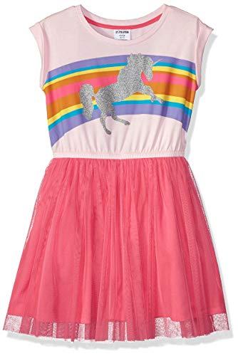 (Spotted Zebra Little Girls' Knit Short-Sleeve Tutu Dress, Pink, Small (6-7))