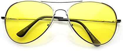 VW Eyewear - Colorful Silver Metal Aviator With Color Lens Sunglasses