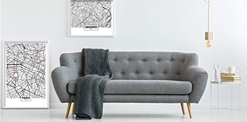 Panorama Póster Mapa de Madrid 50 x 70 cm - Impreso en Papel 250gr - Póster Pared - Cuadros Decoración Salón - Cuadros para Dormitorio - Póster ...