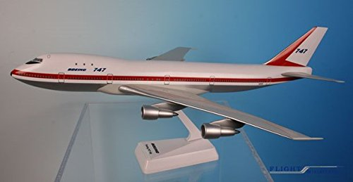 Boeing Demo  747-100 Airplane Miniature Model Plastic Snap F