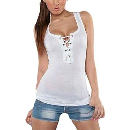 Generous Sexy Lace Up T Shirt Sleeveless Crop Top 2018 Summer Women Black Solid Tshirt Hollow Out Skinny T-shirt By Scientific Process T-shirts Tops & Tees