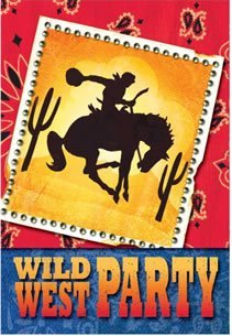 (Cowboy Party Folded Invitations)