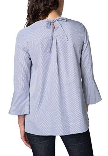 ETERNA 3/4 sleeve Blouse MODERN FIT striped azul marino