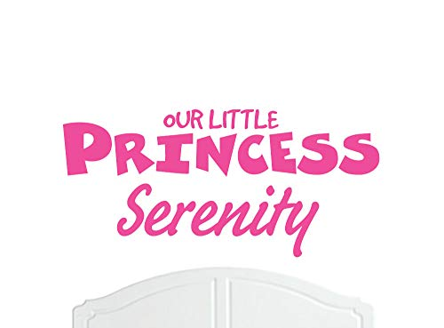 Serenity Standard Mirror - Our Little Princess Serenity Regular Wall Sticker/Vinyl Bed Room/Nursery Girl/Baby - Choice of Colour