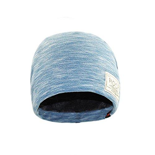 la caliente xing YANXH sombrero xing invierno Beanie ashes nueva blue Otoño y más el piso sombrero de femenina rock serie doble n1UqOX1fw