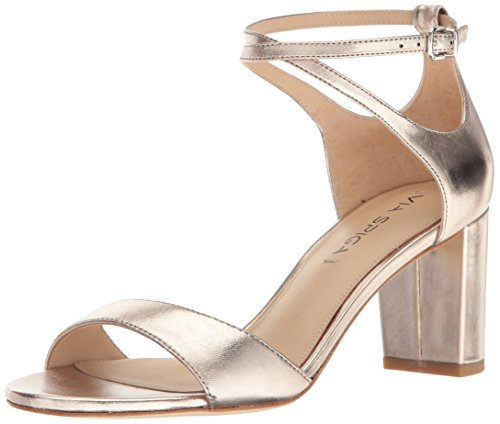 Via Spiga Women's Wendi Block Heel Dress Sandal, Rosegold Leather, 5.5 M US by Via Spiga
