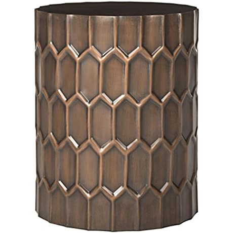 Safavieh Home Collection Corey Antique Copper Side Table