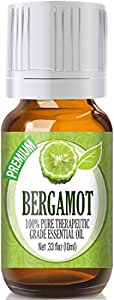 Bergamot - 100% Pure, Best Therapeutic Grade Essential Oil - 10ml