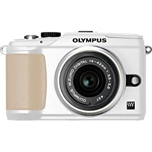Olympus PEN E-PL2 12 MP CMOS Micro Four Thirds Mirrorless Digital Camera with 14-42mm Lens (White) (Old Model)