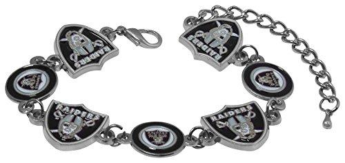 Oakland Raiders Jewelry - NFL Oakland Raiders Logo Bracelet