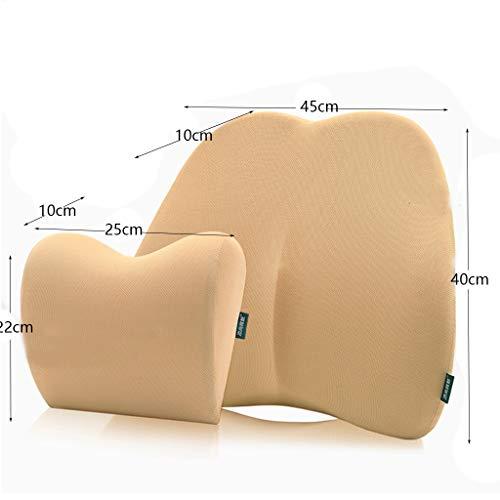 Seat Cushion Headrest Set, Memory Reclining Car Cushion Pillow Patio Chair Swing Chair Wheelchair Seat by Asdfooo (Image #5)