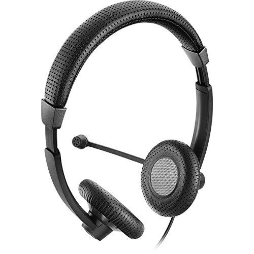 Sennheiser SC 70 USB Ctrl Black Binaural Bandeau Noir Casque Audio - Casques Audio (Centre d'appel/Bureau, Binaural, Bandeau, Noir, avec Fil, 2, 1 m)