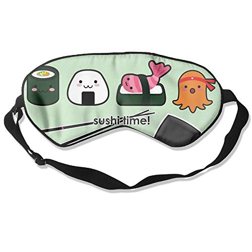 (Goods Shops Mulberry Silk Sleeping Masks Cartoon Sushi Time Eyepatch Eye Masks Adjustable Sleeping Eye)