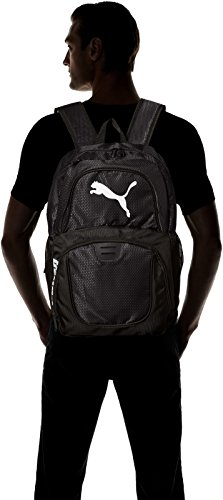PUMA Men's Contender Backpack 4 Heat seal PUMA cat logo PUMA offers performance and sport-inspired lifestyle products in categories such as soccer, running, training, golf and more Pockets: 4 interior slip, 1 interior zip, 2 exterior