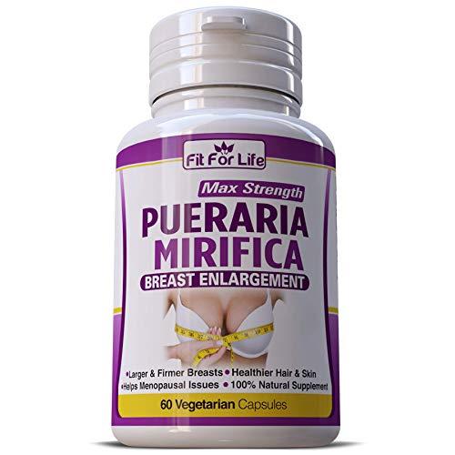 Max Strength Pueraria Mirifica Capsules - Natural Breast Enhancement Pills for Women - Breast Enlarger, Vaginal Health, Menopause Relief, Skin & Hair Health 60 Vegetarian Capsules