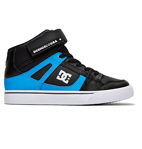 Pictures of DC Kids' Pure High-top Se Ev Skate Shoe Black Red Blue 4