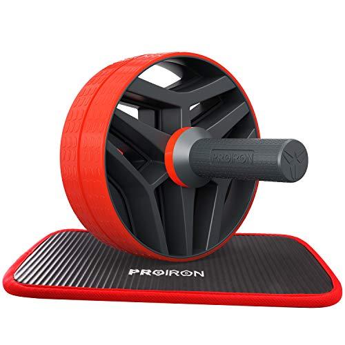 PROIRON Ab Abdominaal rolwiel met extra dikke kniebeschermer Mat – Ab Roller buiktrainer voor Core Workout, Abs…