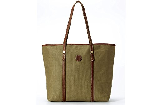 Tote Resistant Poet Khaiki Canvas Fashion La Handbag Olive Water Women's wYfqyBU
