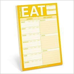 Weekly Meal Planner Pad