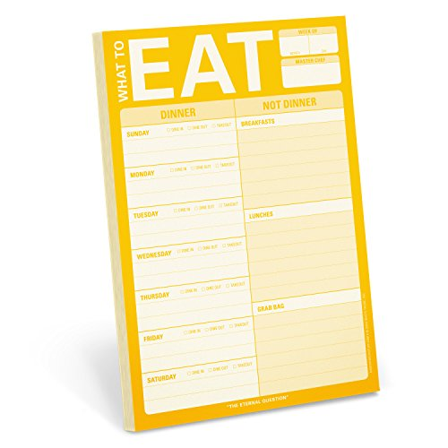 Knock Knock What to Eat Pad (Yellow) by Knock Knock