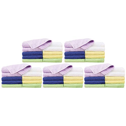 For Pro Cozy Cloths Assorted Colors Microfiber Towels, 50 Count by ForPro (Image #1)