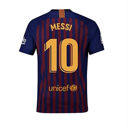 16a560c182fea 2018-2019 New Season Barcelona  10 Messi Home Mens Soccer Jersey Color  Red Blue Size M