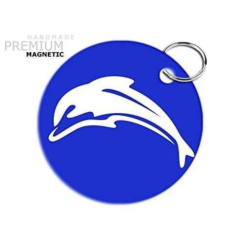JCM impresionante delfín llavero magnético, color azul