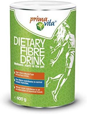 Primavita - Batido de fibra para una buena función intestinal, 400 g (16 raciones)