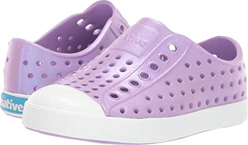 Native Kids Shoes Baby Girl's Jefferson Iridescent (Toddler/Little Kid) Lavender Purple/Shell White/Galaxy 8 M US Toddler -