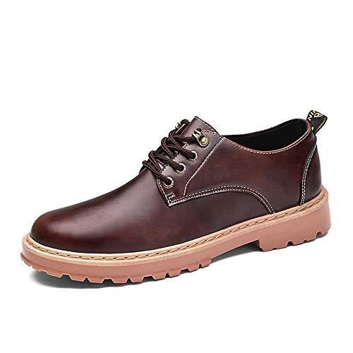 Hombres Yellowish 43 del Yellowish Color Brown EU Oxford cómodos Zapatos del brown Formales de del Dedo cordón tamaño Redondo los Jusheng pie Ocasionales q1HXPwa1