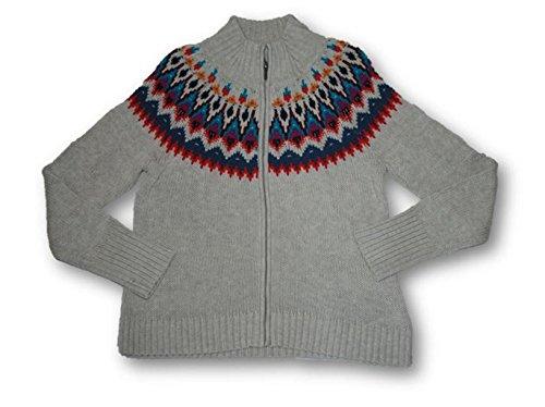 Zip Front Mock Neck Sweater - 8