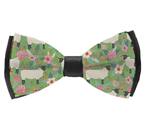 L Wright-King Mens Bow Ties Handmade Pre-Tied Suffolk Sheep Farm Animal Floral Bow Ties for Men (Farm Wardrobe)