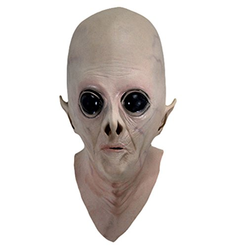 Earth Tone Dance Costumes (Scary Silicone Face Mask Alien UFO Extra Terrestrial Party ET Horror Rubber Latex Full Masks For Halloween Party Toy Prop)