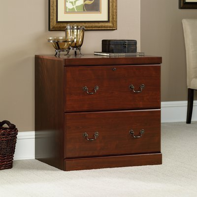 2 Drawer File Classic Cherry Finish Top Drawer Comes with Locks Made in USA by AVA Furniture