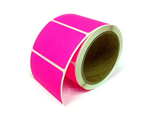Next Day Labels, 3 X 2 Rectangle Inventory Color Coding Labels, 250 Per Roll (Fluorescent Pink) ()