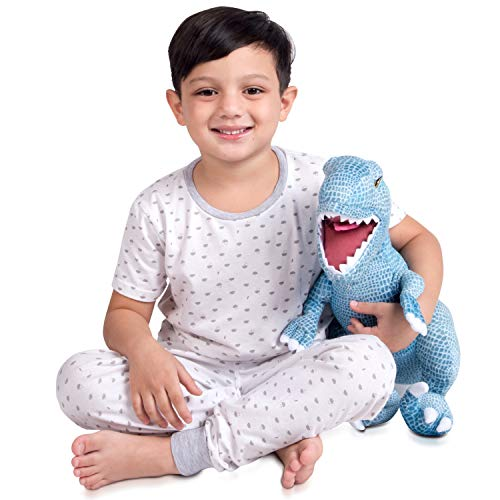 Franco Kids Bedding Super Soft Plush Cuddle Pillow, Jurassic World Blue T-Rex