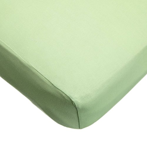 TL Care  Supreme 100% Cotton Jersey Knit Fitted Crib Sheet for Standard Crib and Toddler Mattresses, Apple Green,28