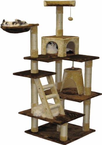 Go Pet Club Cat Condo, 72-Inch, Brown/Beige, My Pet Supplies