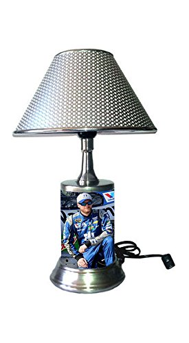 Dale Earnhardt Jr Light - Dale Earnhardt Jr. Lamp with chrome shade