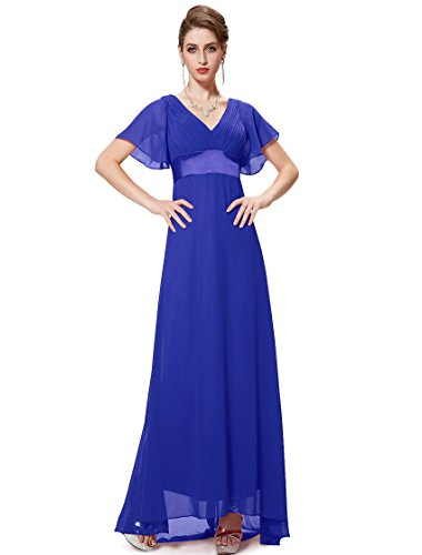 HE09890SB16 Sapphire Blue 14US Ever Pretty Cocktail Dress With Sleeves 09890