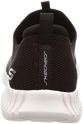 Skechers Mens Elite Flex Wasik Mocassino Nero / Bianco