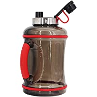 GULPA™ 2.2L - 3.2L Big Water Bottle with Easy Grip Silicone Handle Dishwasher Safe Tritan™ BPA Free Leak Proof Lid Aussie 24x7 Support Sports Gym Fitness Camping Water Bottle Wide Mouth Super Tough