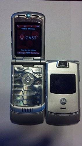 - Motorola RAZR v3m Silver Page Plus Prepaid Cellular Phone
